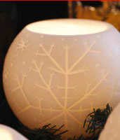 Snowball Big Candle